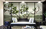 Papel Pintado 3D Flor De Fragancia De Magnolia China Fotomural 3D Papel Tapiz Moderno Wallpaper