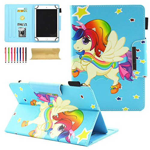 Universal 8.0 inch Tablet Case, Dteck Stand Folio Flip Wallet Case For iPad Mini/Galaxy Tab/Amazon Fire HD 8/ Nextbook Tagital/Alldaymall/Dell/HP/LG G Pad and More All 7.5-8.5 inch Tablet