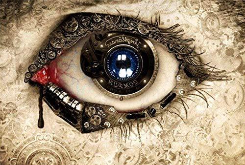 LKAZLL Pintura al óleo por número Kits DIY Adultos Lienzo Decoración del Hogar Regalos Únicos Ojos Misteriosos 40x50 cm