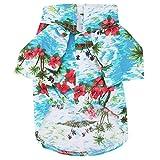 Camisa Hawaiana para Mascotas Camiseta Transpirable de Moda para el Verano de Verano Ropa cómoda para el Estilo de Resort de Playa Ropa para Mascotas Ropa para Cachorros Perros pequeños y medianos(S)