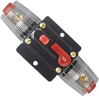 WOHHOM 30A 40A 50A 60A 80A 100A 150A Audio Circuit Breaker Auto Car Stereo Inline Fuse Holders Inverter, Manual Reset 12V-...