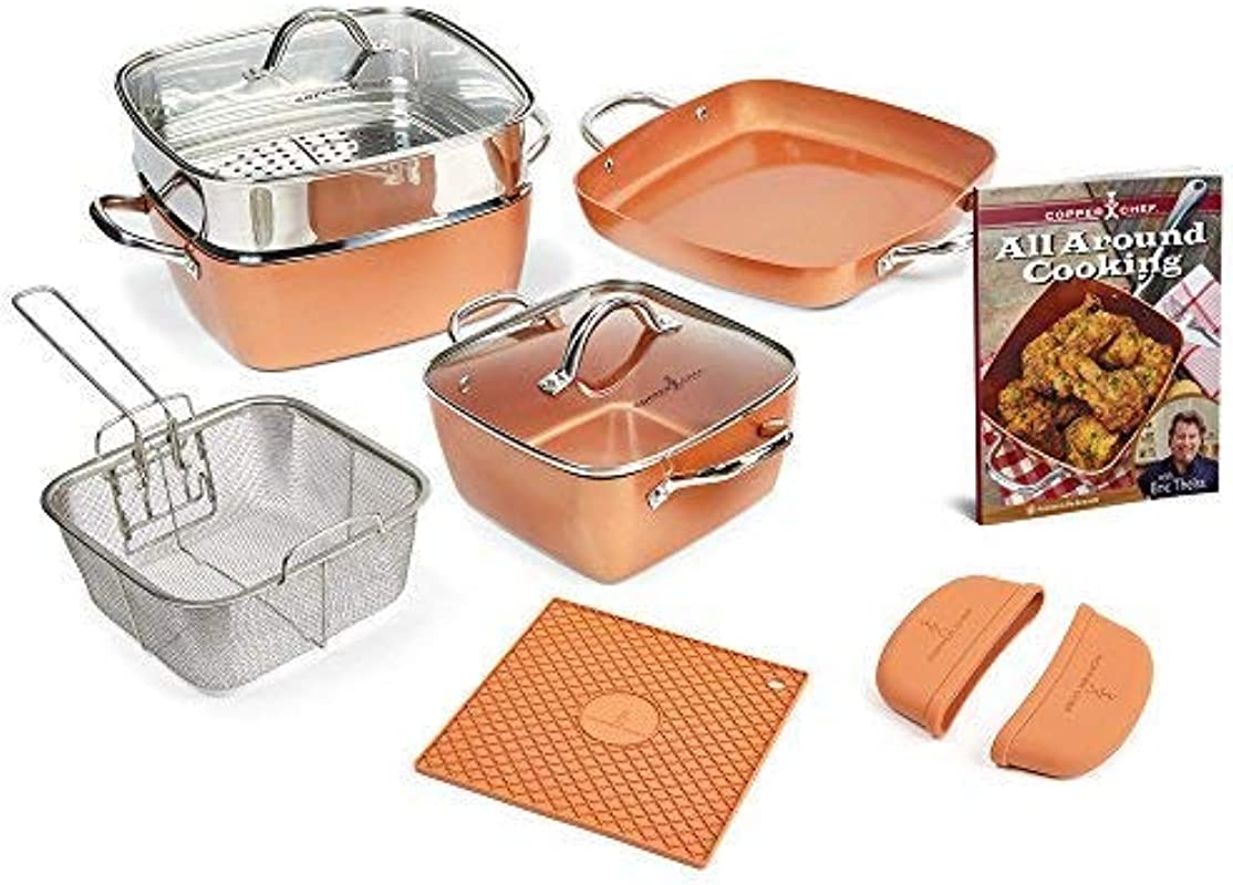 Copper Chef 12 Piece Square Casserole Cookware Set Renewed
