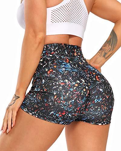 YOFIT Ruched Butt Lifting Shorts High Waist Tummy Control Gym Shorts...