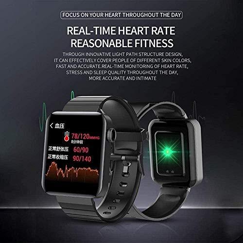 Reloj Inteligente Mujeres Hombres 1.54 'Pantalla inteligente del tiempo con IP67 impermeable reloj deportivo reloj ritmo cardíaco presión arterial