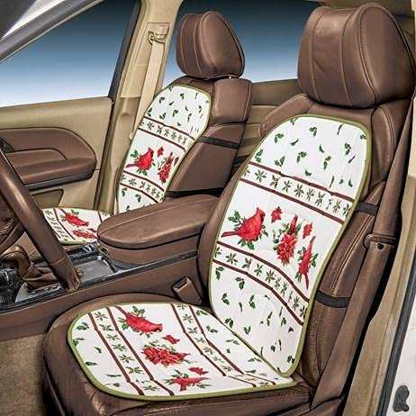 Singhal Shops Super special price Lovely Cardinal and Holly Car 5 popular Seasonal Seat Style