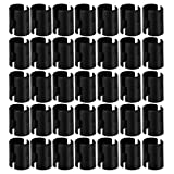 74-Packs Wire Shelf Clips,Wire Shelving Shelf Lock Clips for 1' Post- Shelving Sleeves Replacements for Wire Shelving System,Fits with Thunder Group, Alera, Honey Can Do, Eagle, Regency, Metro & More