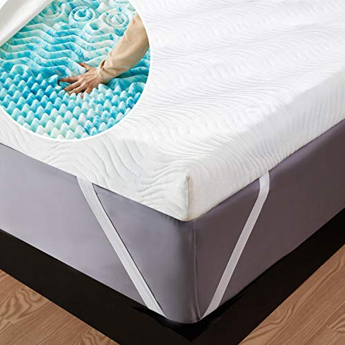 Bedsure Topper Singolo Memory Foam - Correttore Materasso 90x190 con Altezza 7cm,Materassi Sottili Ortopedico a 7 Zone con Rivestimento Traspirante e Lavabile