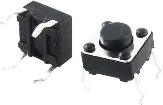 sourcingmap 10uds CA 250V 1A 2 Terminales NC SPST Interruptor Moment/áneo Instant/áneo de Pulsador Cuadrada rojo