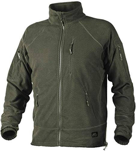 Helikon-Tex Alpha Tactical Jacket - Grid Fleece Olive GRÜN XL/Regular