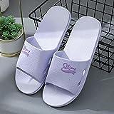 ypyrhh Zapatilla de Plataforma con cuña para Mujer,Bathroom Flush, Home Couple Sandals-Purple_36-37,Zapatillas de Estar por Casa de Mujer/Hombre