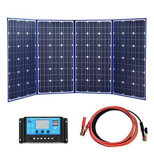YUANFENGPOWER 320W 18V zonnepaneel opvouwbaar zonnepaneel draagbare oplader op zonne-energie voor camping, boot, camper, reizen, huis, auto, 12 V batterij