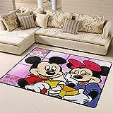 Zmacdk Alfombra de área grande de Mickey Minnie Mouse para sala de estar al aire libre, parte trasera antideslizante para jardín de infantes de 6 x 8 pies (180 cm x G240 cm), 3D Mickey Minnie Mouse