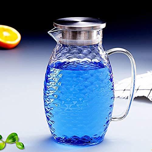 Teeservice Teekanne Teekanne aus Glas Teekannen aus transparentem Glas Haushaltsflasche mit kaltem Wasser Explosionsgeschützter Saft Teekessel PersönlichkeitFischkrug mitgroßer Kapazität1500ml-1