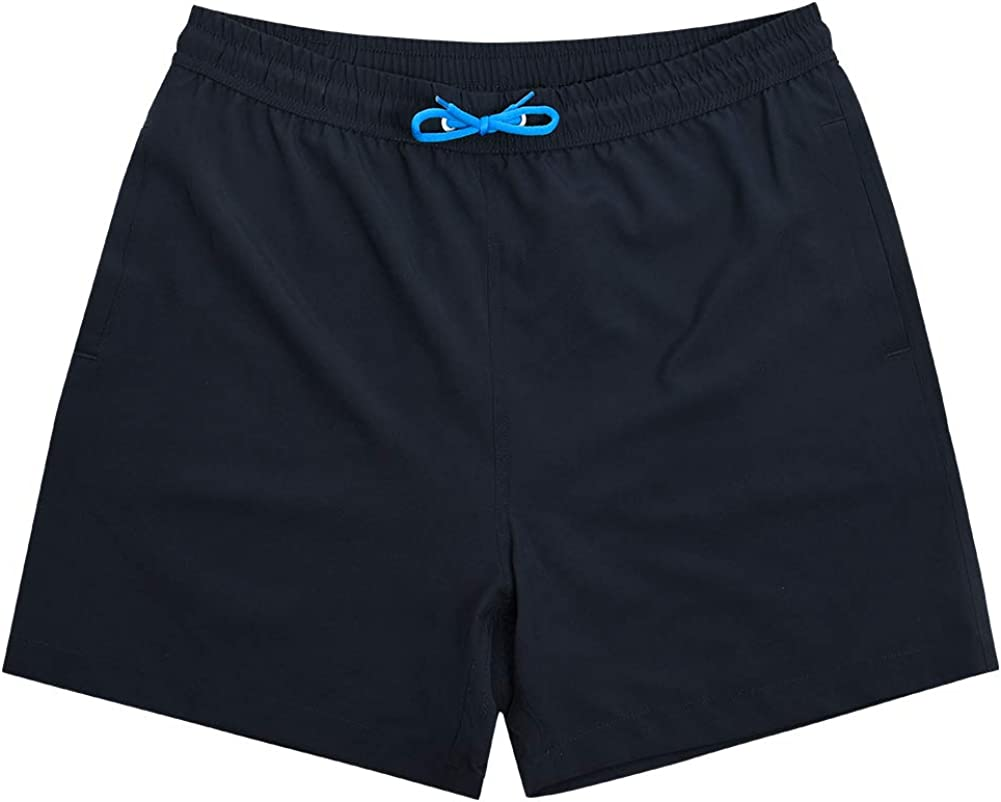SNOW DREAMS Boys Swim Trunks Quick Dry Swim Shorts Lightweight Bathing Suits with Pocket