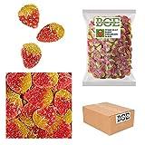 Bulk Gourmet Emporium - Caramelo de goma de fresa con picapica en rodajas, producto vegano, halal y sin envase de plástico, 2 kg