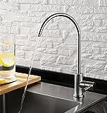 Sccot Sin Plomo SUS304 Acero inoxidable potable purificador de agua de grifo, grifo, grifo de ósmosis inversa, cepillado níquel