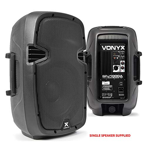 VONYX Compact High Powered Active PA Speaker 400W 10 Inch Woofer DJ Disco...