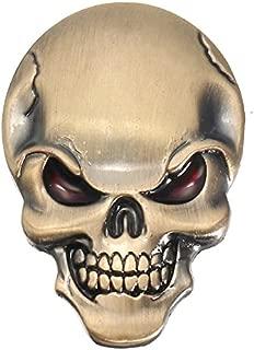 Exterior Accessories - Demon Skulls Metal 3d Car Sticker Skull Bone Emblem Badge Decals Sticker - Mens Tee Shirts Heavy Metal Skulls Metallica Skull Emblem - Decals For Motorcycles - 1PCs