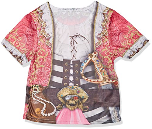 Rubies- Camiseta sublimación Pirata niña–TM, Multicolor, M (I-630866M)