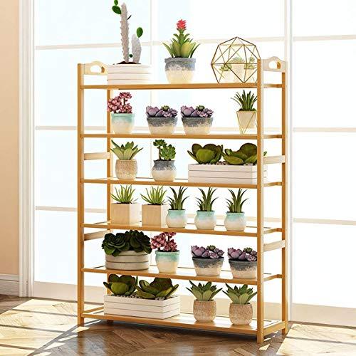 Staande bloemen Schoenenrek opslag rek Eenvoudige stevige houten Multi-layer Dust-proof opslag Rack Shelf Eenvoudig te Schoenenkast monteren (Kleur: 5/6 lagen, afmetingen: 50/70 / 80cm, Verpakking van