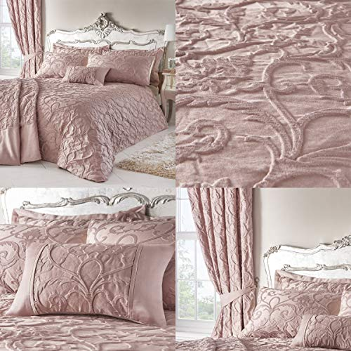 Homespace Direct Bentley Blush Woven Jacquard Duvet Cover Bed Set, King