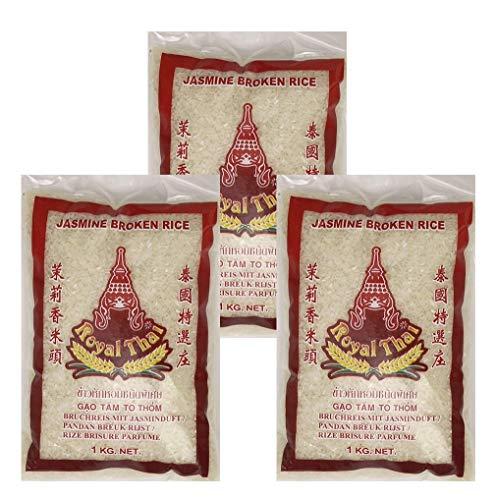 Royal Thai Bruchreis Reis mit Jasminduft 1kg, 3er Pack, (3x1000g)