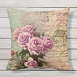 73Elley French Country Chicshabby Chic - Almohada para exteriores, diseño de rosas