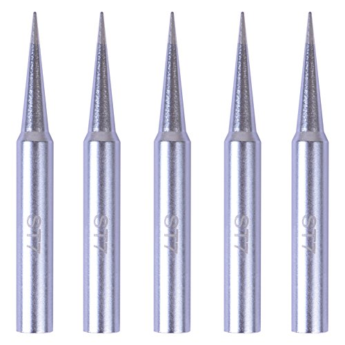 Bleiou 5 Pack Replacement ST7 Soldering Iron Tips for Weller WLC100, SPG40, SP40L, SP40N, SP40NKUS, WP25, WP30, WP35