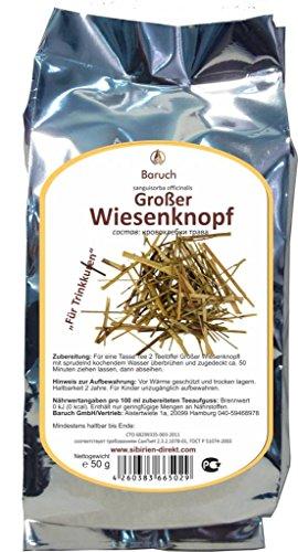 Großer Wiesenknopf - (Sanguisorba officinalis, Groß-Wiesenknopf ) - 50g