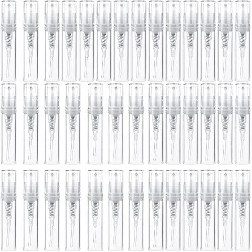 Mini Flacone Spray, 40 Pezzi Flacone Spray per Profumo Bottiglia di Profumo di Plastica Profumo a Vuoto Campione Bottiglia Spruzzatore Portatile Flacone di Profumo Trasparente per Profumi e Cosmetici