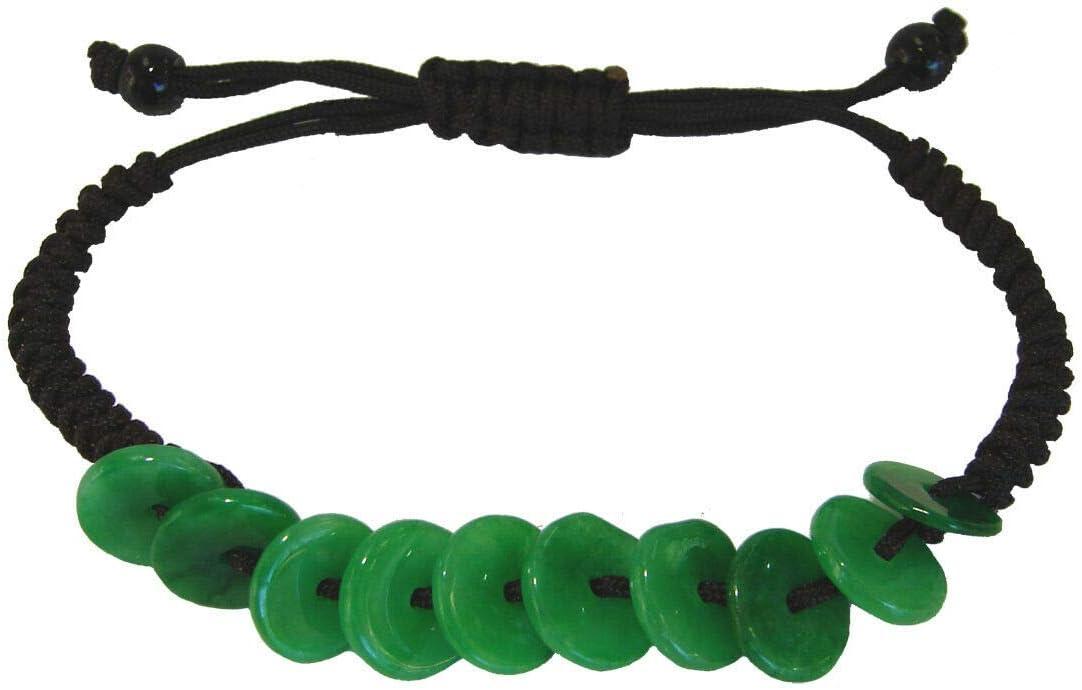 Feng Shui Max 48% OFF Chinese Adjustable Jade Bracelet Coin for Jasper Wealt Super Special SALE held