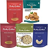 Nutty Gritties Mixed Daily Needs Nuts Dry Fruits - Almonds, Walnuts Kernels, Cashews, R&S Pistachios and Raisins...
