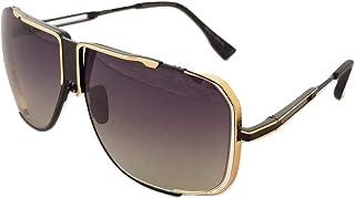 DITA - Gafas de sol unisex Cascais DRX 2065 Negro mate dorado brillante con lentes grises a claras
