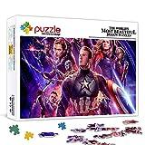 LLLTONG Puzzles 300 pièces pour Adultes Enfants Avengers 4: Captain America, Black Widow, Affiche du Film Captain Marvel Jigsaw Game 38x26cm