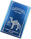 XIAOXIA Black Camel Cigarette Case Waterproof and Pressure Resistant Portable Metal Aluminum Alloy Automatic 20 Cigarettes (Color : Blue, Size : Camel)