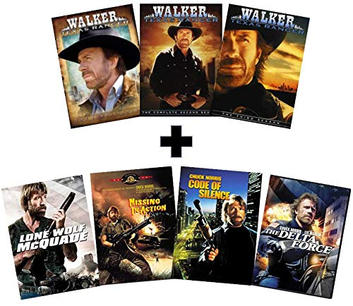 Ultimate Chuck Norris TV & Movie DVD Collection - Walker, Texas Ranger: The Complete First, Second & Third Season (Seasons 1, 2 & 3)/Lone Wolf McQuade/Missing in Action/Code of Silence/The Delta Force