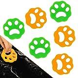Hojoy Haustier Haarentferner 6 Stücke, Tierhaarentferner Waschmaschine & Flusensiebe, Entfernt Fell In Waschmaschine Und Trockner, Umweltfreundlich Und Wiederverwendbar