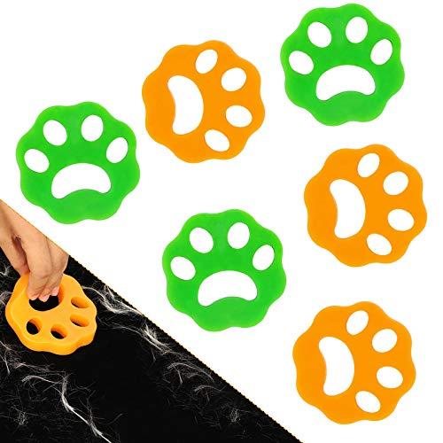 Hojoy Quitapelos para mascotas, 6 unidades, para lavar y eliminar el pelo de perro, respetuoso con el medio ambiente y reutilizable