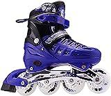 Patines de rodillos Patines en línea ajustables al aire libre con ruedas iluminadoras, patines para niños y niñas con todas las ruedas iluminadas, deportes al aire libre Fitness Fitness Patines en lín