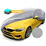 Car Cover, Sedan Protection Cover Breathable 3 Layer for Basic Protection Windproof Dust Proof Scratch Resistant 225'' Full Cars Covers