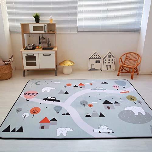 Zinsale Große Verdicken Baby Krabbeldecken Langsames Aufstehen Samt Spielmatte Kindergarten Aktivität Pad Krabbelmatte (Nördlicher Polarkreis)