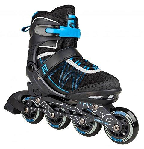 Skatelife Lava II Inline Skates verstellbar Kinder schwarz-blau schwarz-blau, 31-34