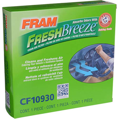 FRAM CF10930 Fresh Breeze Cabin Air Filter with Arm and Hammer