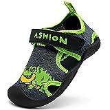 Zapatillas de Playa Piscina Natación Verano Zapatos de Agua para Niños Sandalias Cerrada de Secado Rápido,F Verde,25 EU