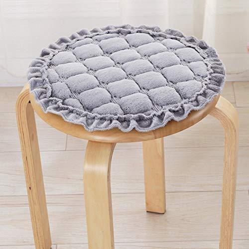 YLCJ zitkussen voor de winter, rond, 4 seizoenen, kussen voor bureaustoelen, diameter 40 cm