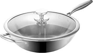 Dali Triply Stainless Steel Stir Fry 13 Inch Wok Pan