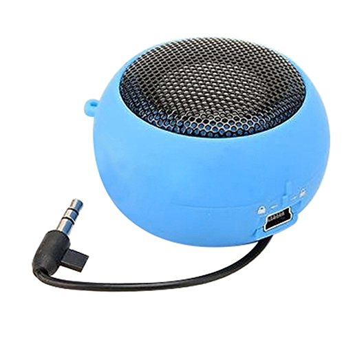 Mini Portable Hamburger Speaker Amplifier for iPod iPad Laptop iPhone Tablet PC (Blue)