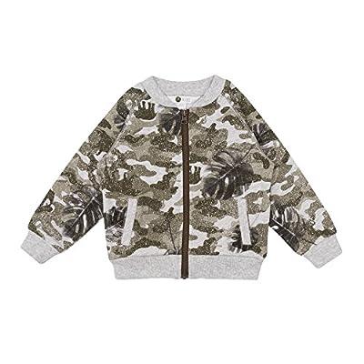 Petit Lem Big Jacket Top for Boys, Comfortable and Stylish, Khaki, 4