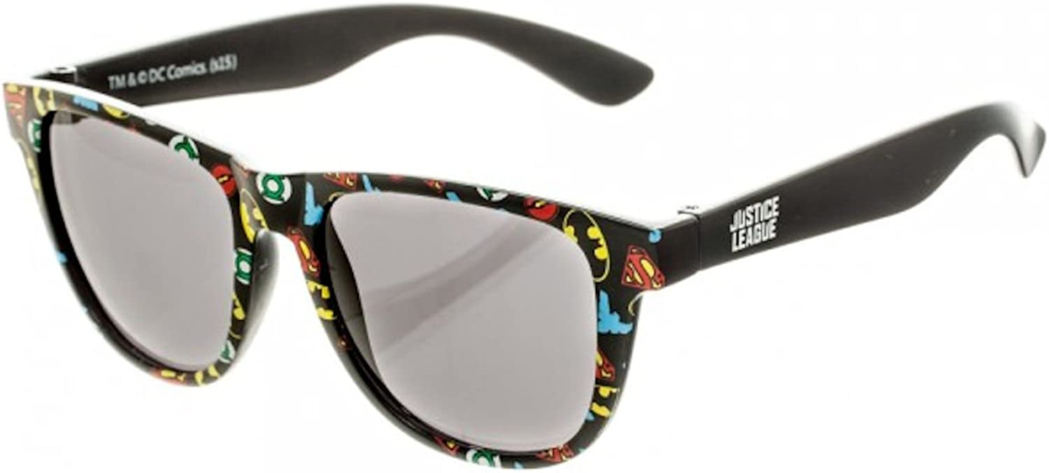 BIOWORLD DC Comics All Over Print Logo Sunglasses with Soft Pouch by bioWorld
