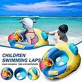Hunpta @ Piscina infantil para bebés, piscina flotante flotador flotador flotador para exteriores con baldaquino para niños pequeños, amarillo